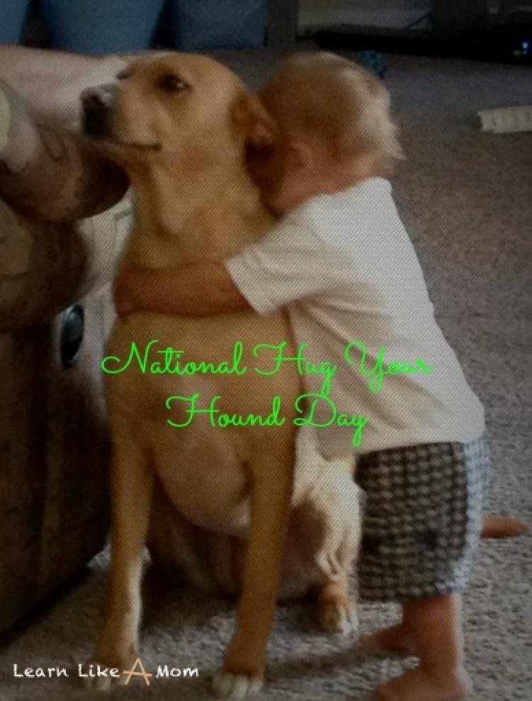 National Hug Your Hound Day - Learn Like A Mom!