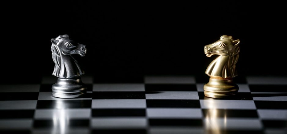chess board game concept for competition and strategy
