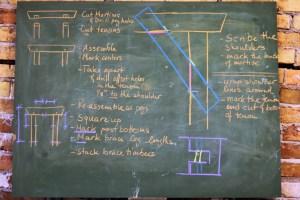 timber frame chalk board