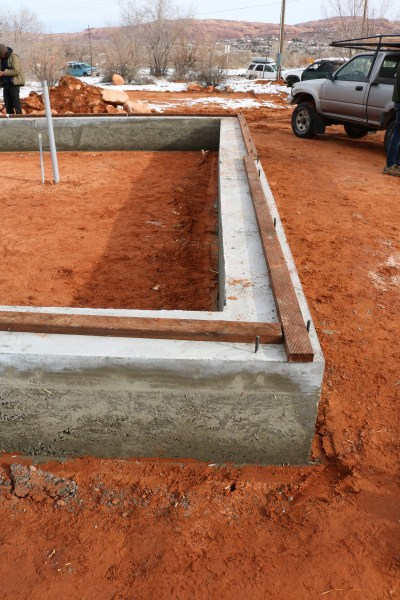 grade beam foundation for strawbale house