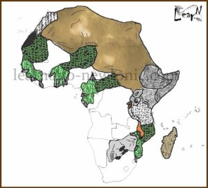 Learn the Map of Africa through Kenyug