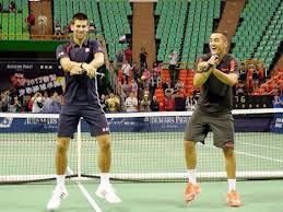Novak Djokovic and Nicolas Almagro do the Gangnam Style