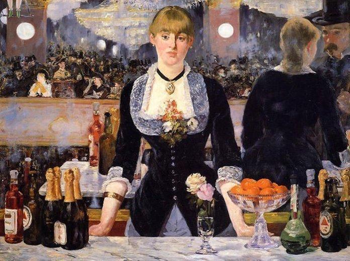 Un bar aux Folies Bergere by Edouard Manet