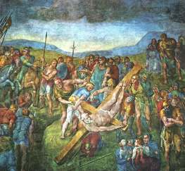 The Crucifixion of St. Peter by Michelangelo