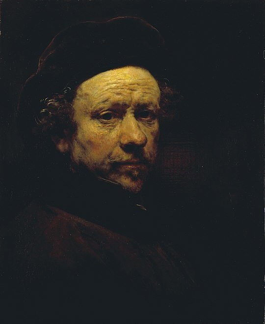 Self-Portrait with Beret and Turned-Up Collar (1659)