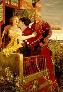 Romeo and Juliet Balcony Scene Painting