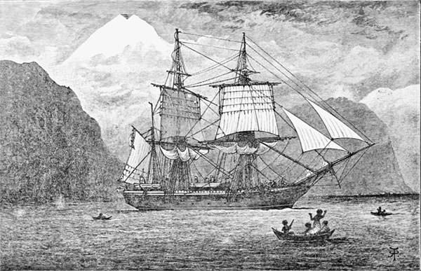 Depiction of HMS Beagle