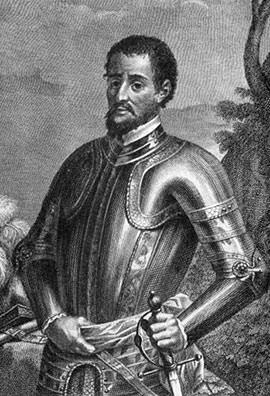 Hernando de Soto engraving