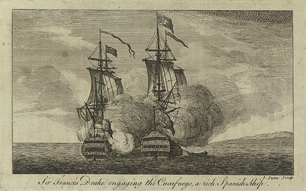 Capture of the Cacafuego by Francis Drake