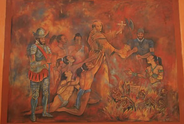 Diego de Landa's destruction of Mayan artifacts