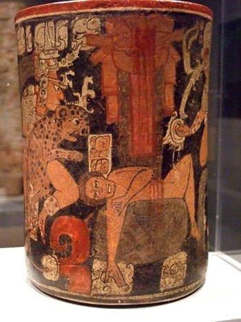 Maya vessel with a scene of human sacrifice