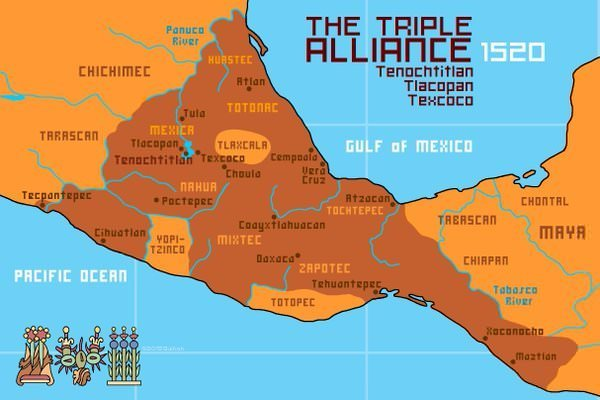 Map of the Aztec Empire