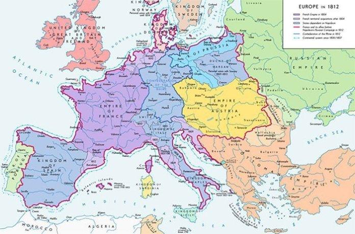 Napoleon Empire Map