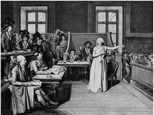 Marie Antoinette during her trial