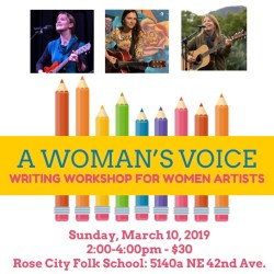 A Woman's Voice - Writing Workshop for Women Artists