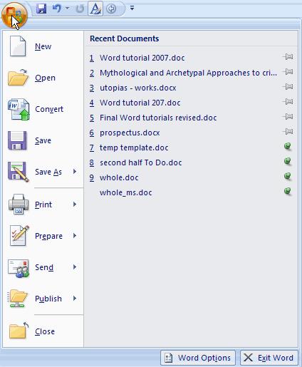 Microsoft Office Button : microsoft, office, button, Microsoft, Tutorial, Learnthat.com