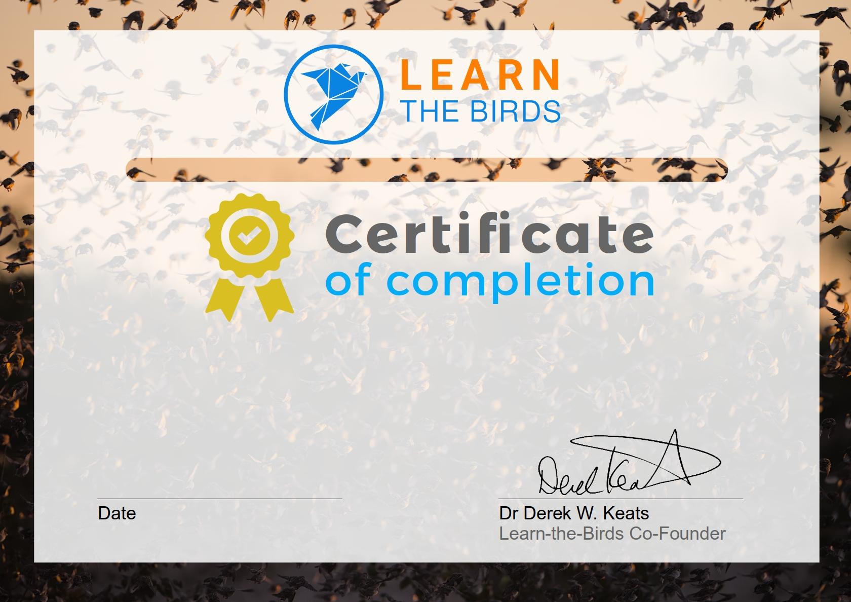 Default course certificate
