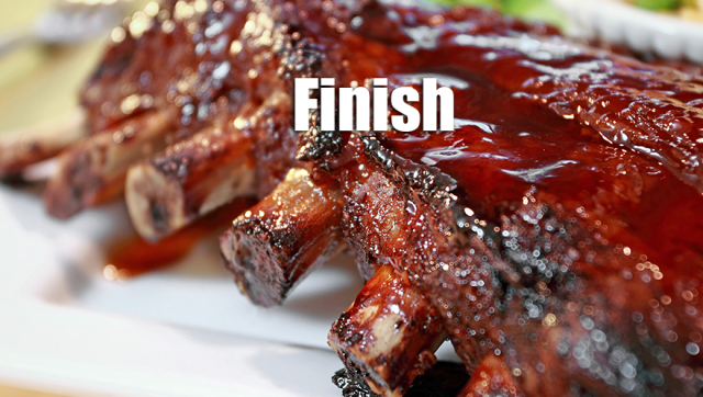 finish ribs