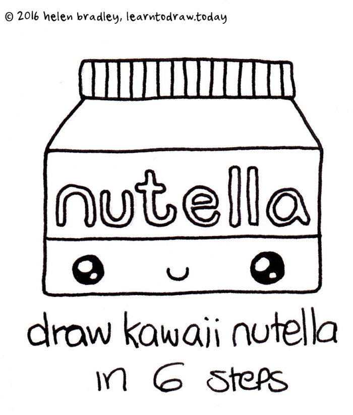 Learn to Draw a Kawaii Jar of Nutella in 6 Steps : Learn