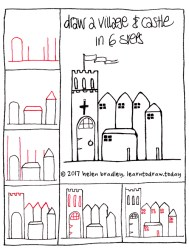 How to Draw a Castle and Village in 6 Steps : Learn To Draw