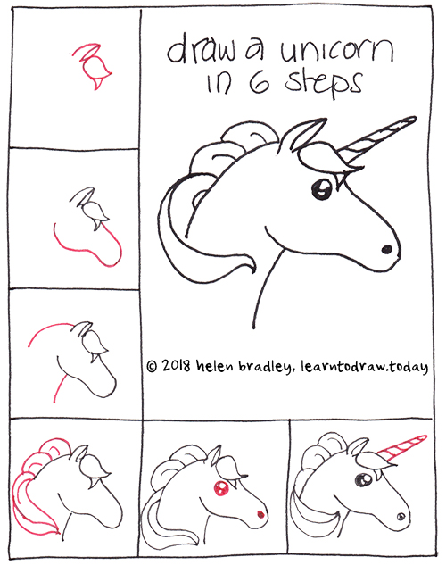 How to Draw a Unicorn in 6 Steps : Learn To Draw