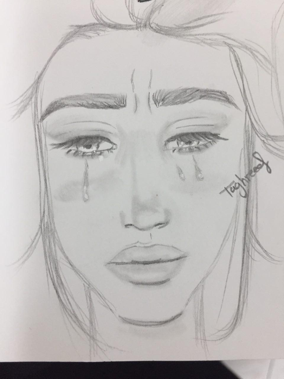 How To Draw Crying : crying, Realistic, Crying, Beginners, Learn
