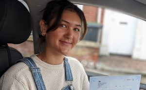 Fraya passes she driving test