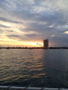 Lake Worth Sunset at anchor