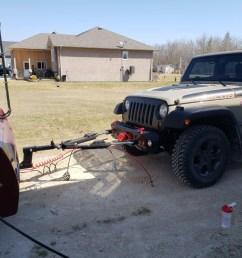 jeep wrangler behind dynamax motorhome [ 1024 x 768 Pixel ]