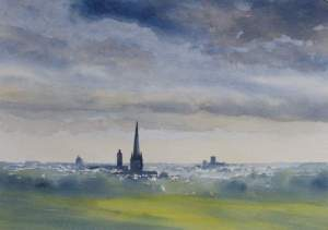 A watercolour sky painting