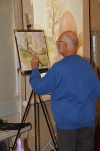 Stephen Martyn demonstrating pen and wash