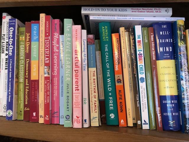 Lots of books on a bookshelf