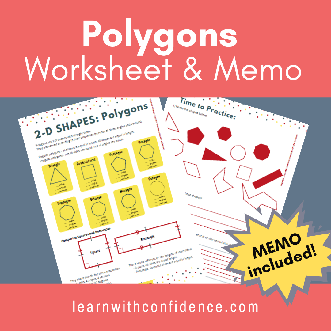 hight resolution of 2D Shapes Polygons (Worksheet and Memo) (Grade 5)   Learn with Confidence