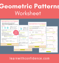 Geometric Patterns Worksheet (Grade 5)   Learn with Confidence [ 1080 x 1080 Pixel ]