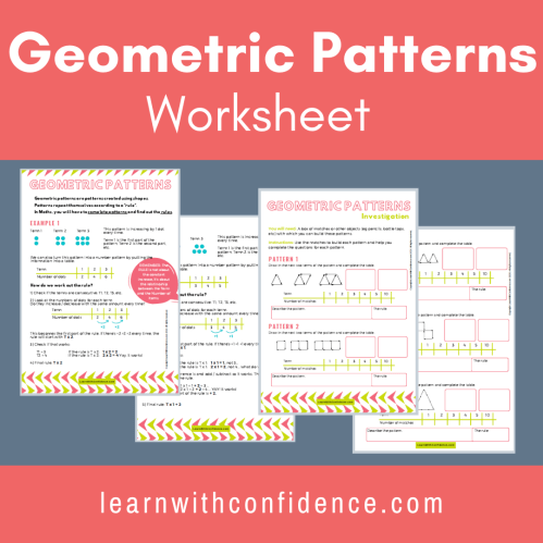 small resolution of Geometric Patterns Worksheet (Grade 5)   Learn with Confidence