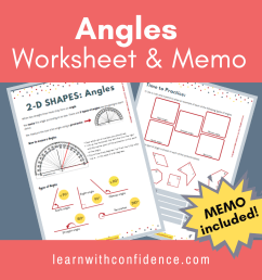 2D Shapes Angles (Worksheet and Memo) (Grade 5)   Learn with Confidence [ 1080 x 1080 Pixel ]