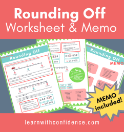 Rounding Off (Worksheet and Memo) Grade 4 - 6)   Learn with Confidence [ 1080 x 1080 Pixel ]