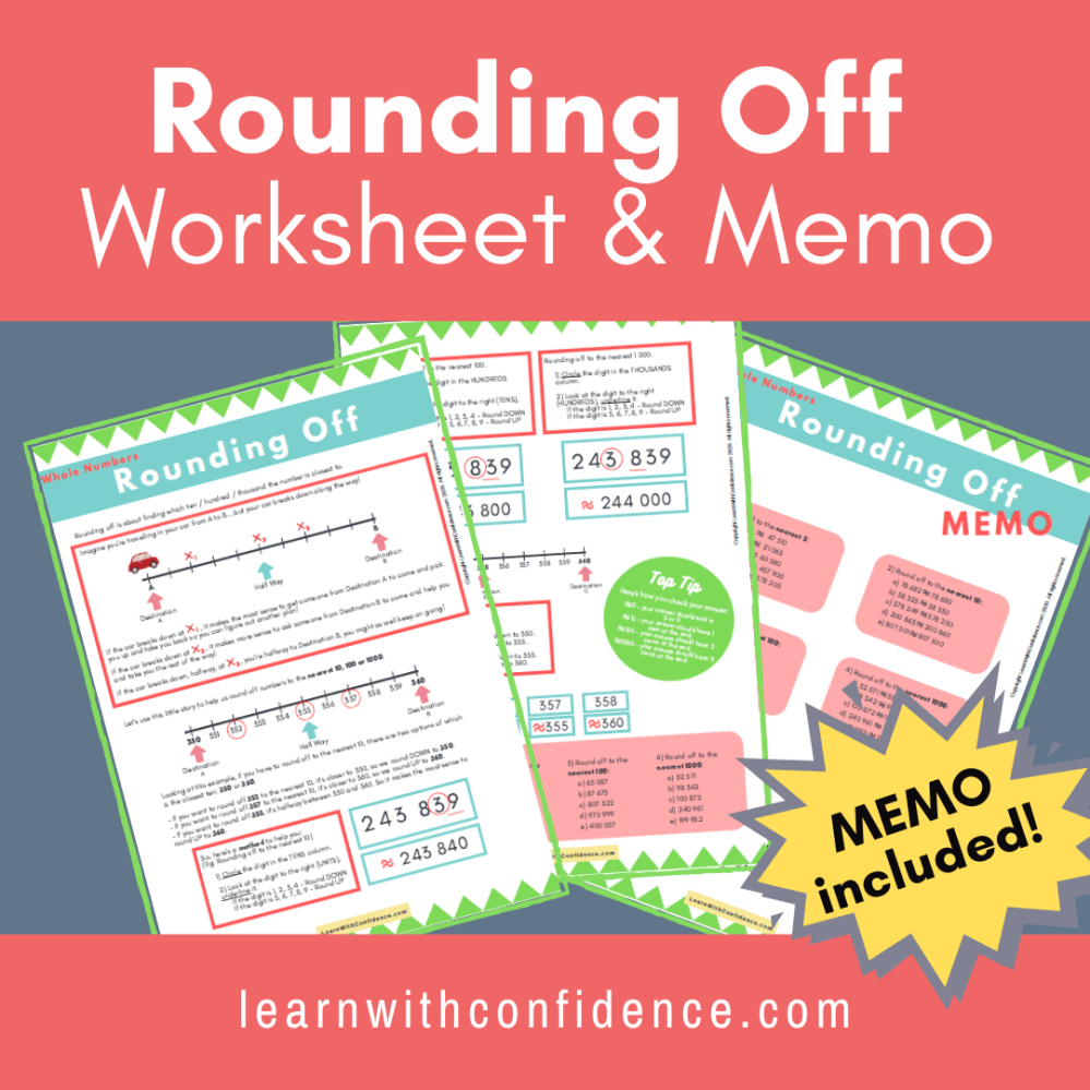 medium resolution of Rounding Off (Worksheet and Memo) Grade 4 - 6)   Learn with Confidence