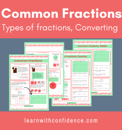 Common Fractions 1 (Worksheet and Memo) (Grade 5)   Learn with Confidence [ 1080 x 1080 Pixel ]