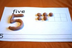 Messy maths: playdough