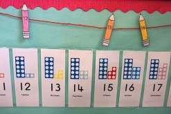 Numicon numberline
