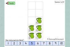 Tens frame numbers