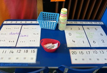 It's time for more fun at the maths table, this time using our knowledge of addition facts such as doubles and pairs that make 10.
