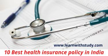 Top 10 best health insurance policy in india