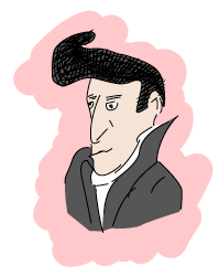 A very bad drawing of Elvis
