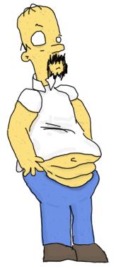 Ugly Homer Simpson parody