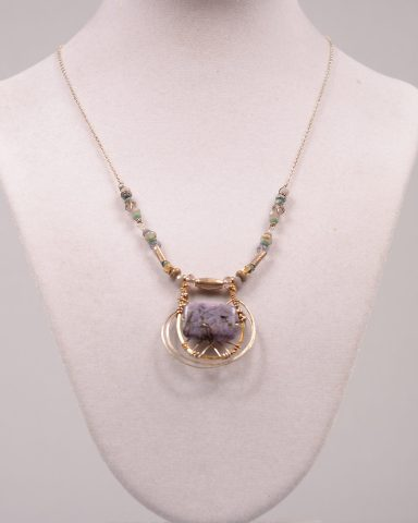 Luscious Lavender necklace by Art By Any Means