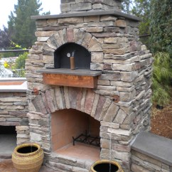 Outdoor Kitchen Pizza Oven Design Kohler Faucet Leaking Lc Designs Fire Place Has