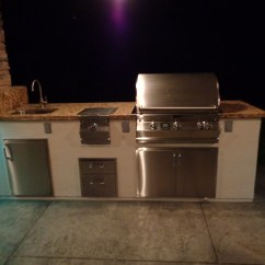 Outdoor Kitchen Oven Small Glass Top Table With Fire Pit Custom Stools And Lc