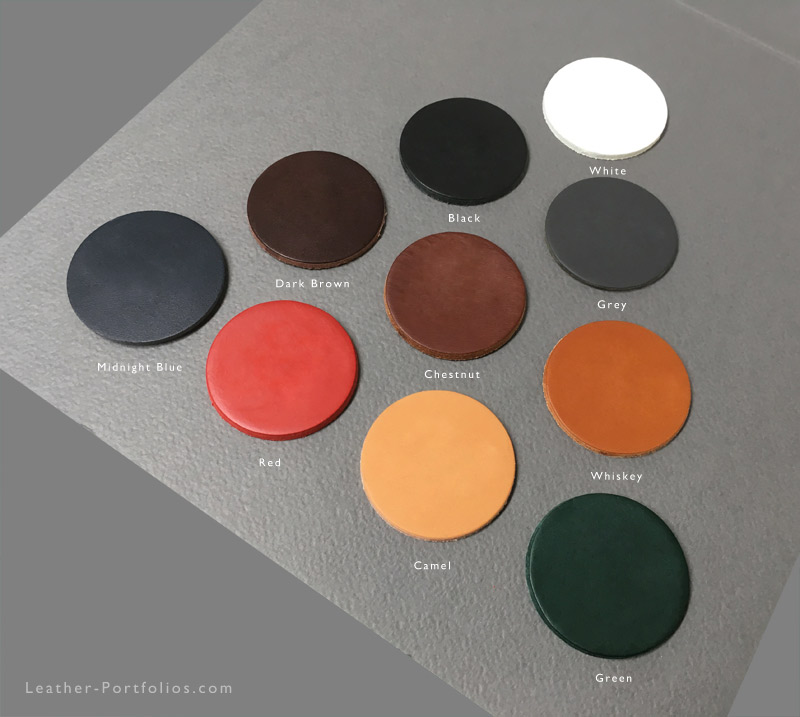 Leather Portfolio Colours - Comparison